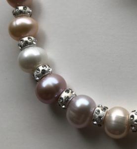 Pearl and Crystal Bracelet Peace Within