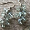 green amethyst cubes earring Peace Within