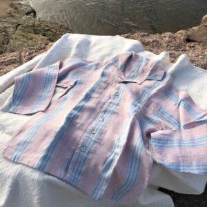 linen pajamas pink