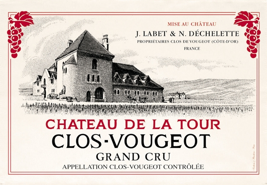 French Wine Label towels Clos Vougeout Kitchen towel