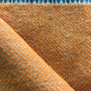 Tweedmill Wool Throw Orange