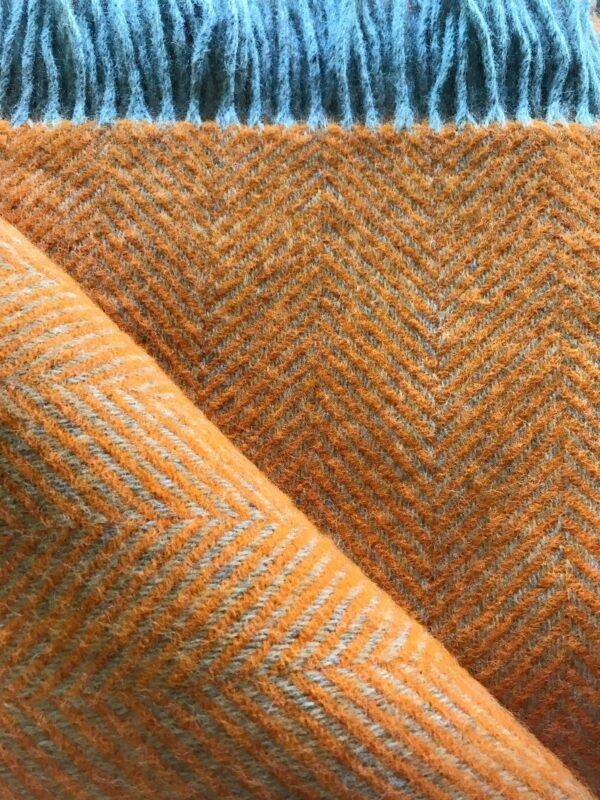 Tweedmill Wool Throw Orange