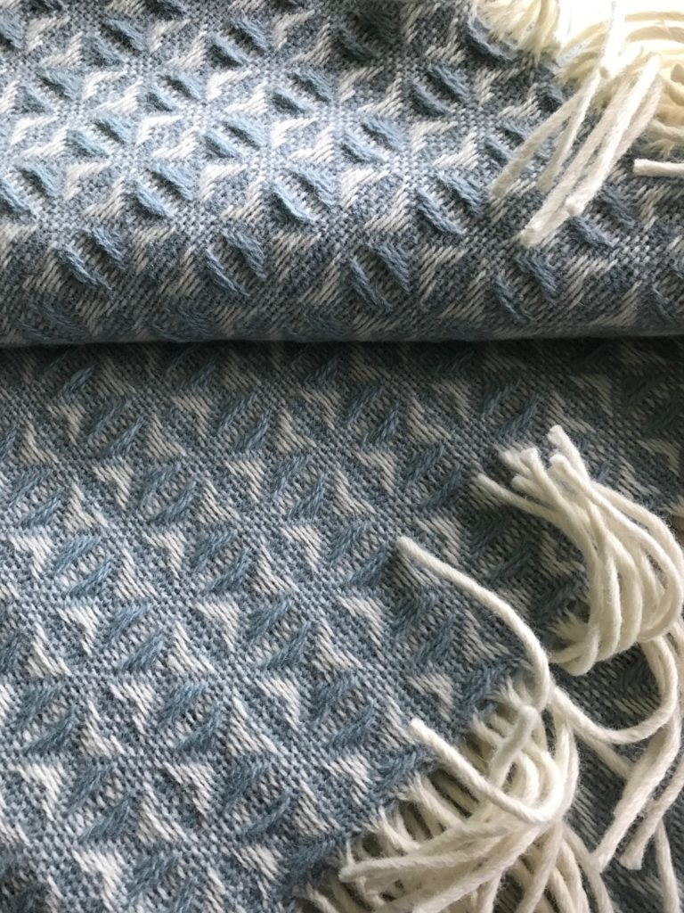 Tweedmill Wool Blanket Blue