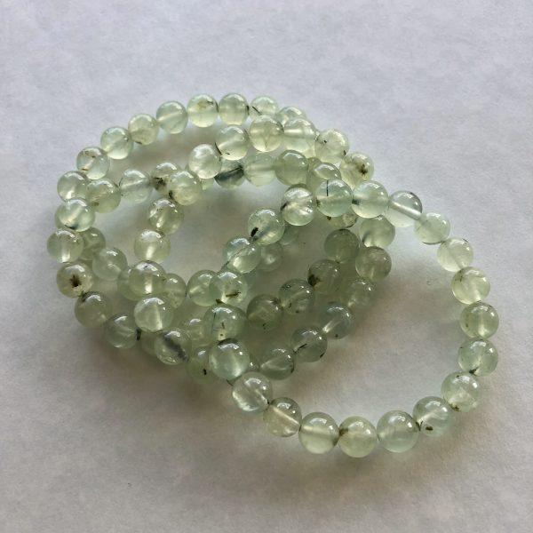 green prehnite beads bracelet Peace Within