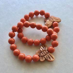 coral swarovski bracelet butterfly Peace Within