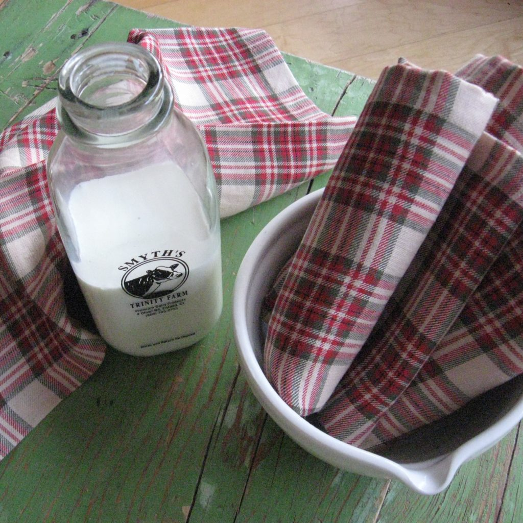 Libeco Linen Red Plaid Napkins Runners