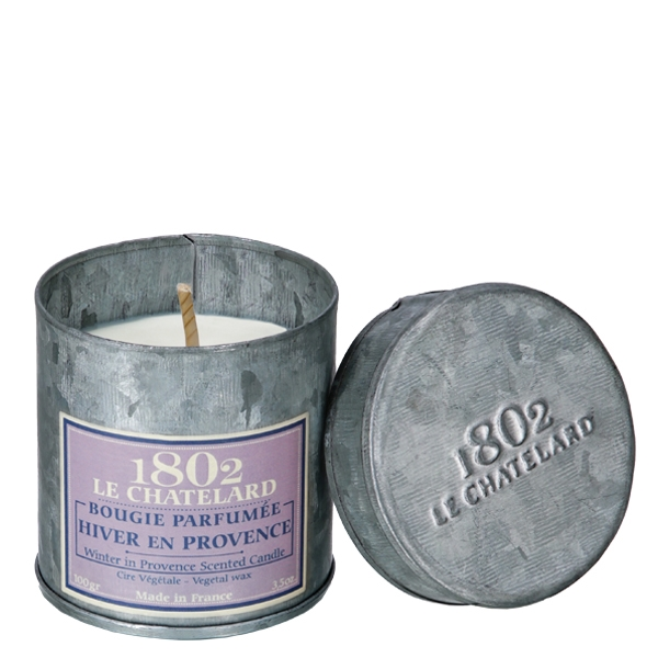 chatelard winter in provence scented candle in tin France