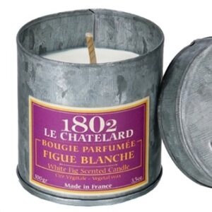 Le Chatelard scented candle white fig tin
