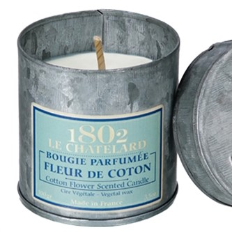 Le Chatelard scented candle in tin