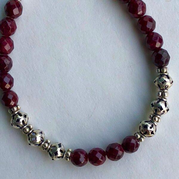 garnet sterling silver bracelet peace within