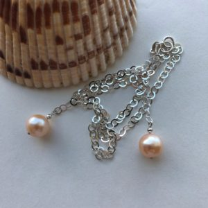 Cultured Pearl Sterling Silver Necklace Peace Within