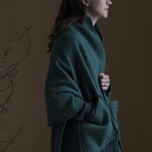 Lapuan Kankurit Finland Spruce Green Wool Pocket Shawl