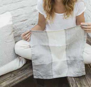 Libeco Belgian Linen Napkins Atelier Stripe