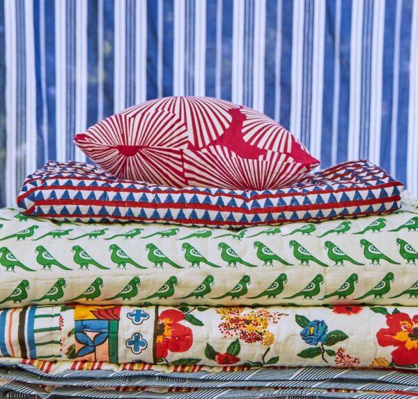 French Fuchsia Flower Cotton Pillow Cover petit lucas