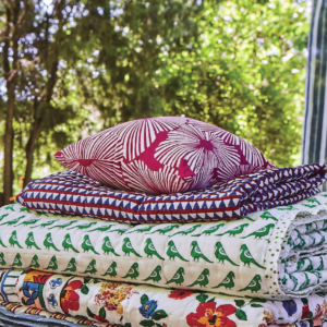 French flowered fuchsia pillow cotton pillow cover