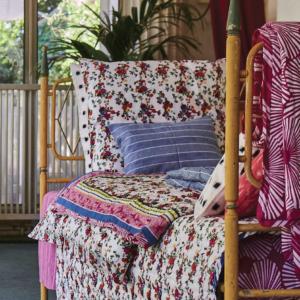 French Cotton Flower Pillow Covers Petit Lucas