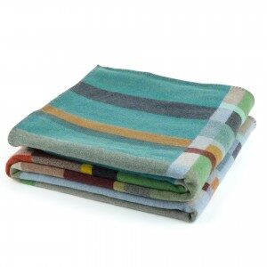 Wallace#Sewell Merino Lambswool Block Feilden Throw Made in England