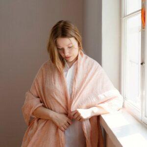 Lapuan Kankurit linen scarf shawl Lempi Finland