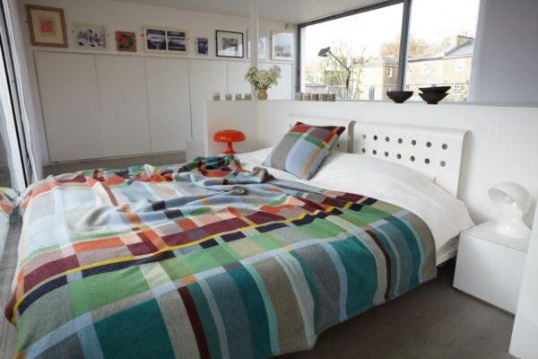 Wallace Sewell Feilden Block Blanket Throw Wool England
