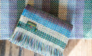 Tweedmill recycled wool blankets throws Wales Celtic blue