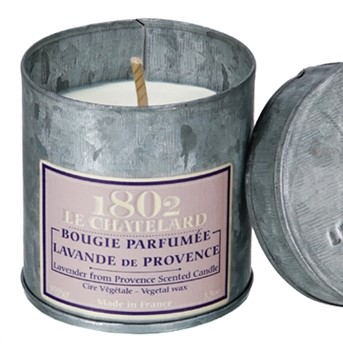 Le Chatelard scented candle lavender tin