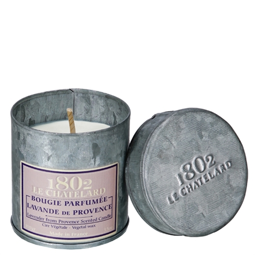 le chatelard lavender scented candle in tin