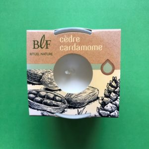 Bougies la Francaise scented candle cedar cardamom
