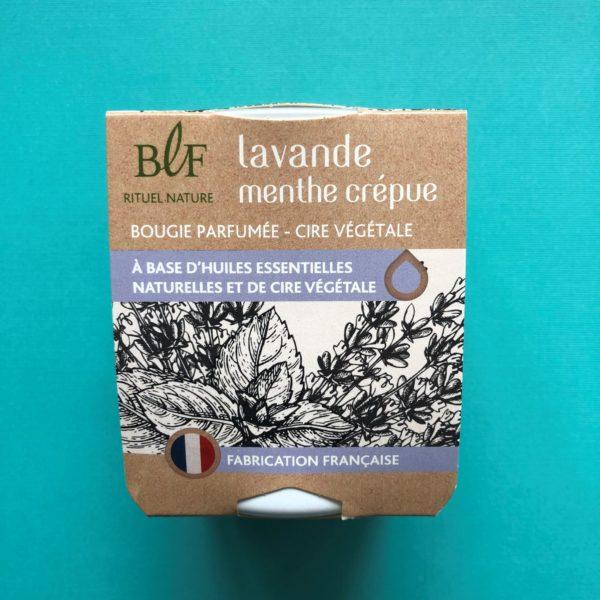 Bougies la Francaise scented candle lavender mint