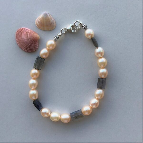 pink pearl purple amethyst bracelet Peace Witrhin