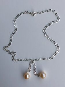 Peace Within Jewelry mint stone knotted necklace