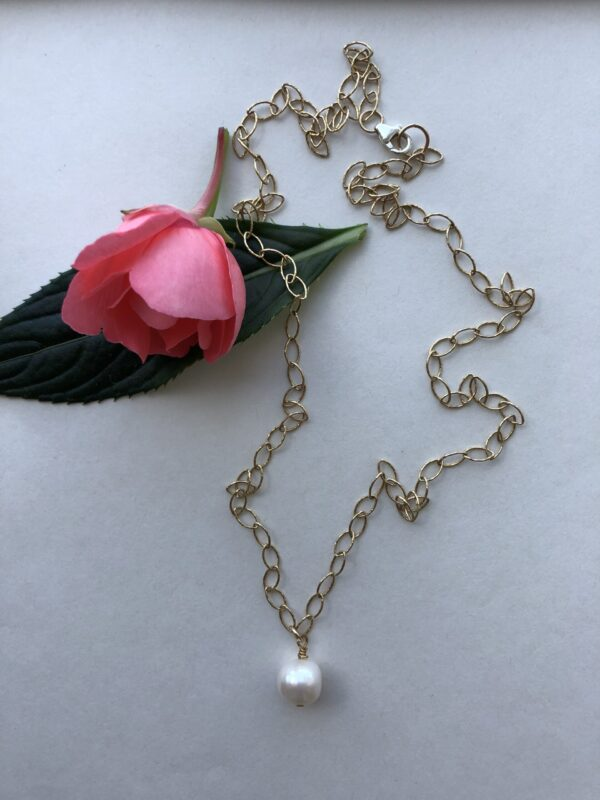 Peace Within Jewelry white pearl gold chain necklace
