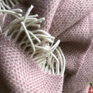 Tweedmilll throw pink wool