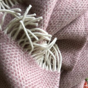 Tweedmilll throw pink wool