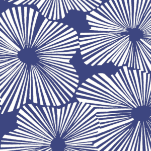 French blue flower curtains lucas du tertre