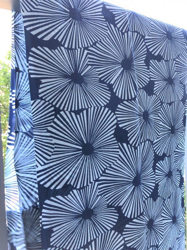 French blue flowered curtains Petit lLucas