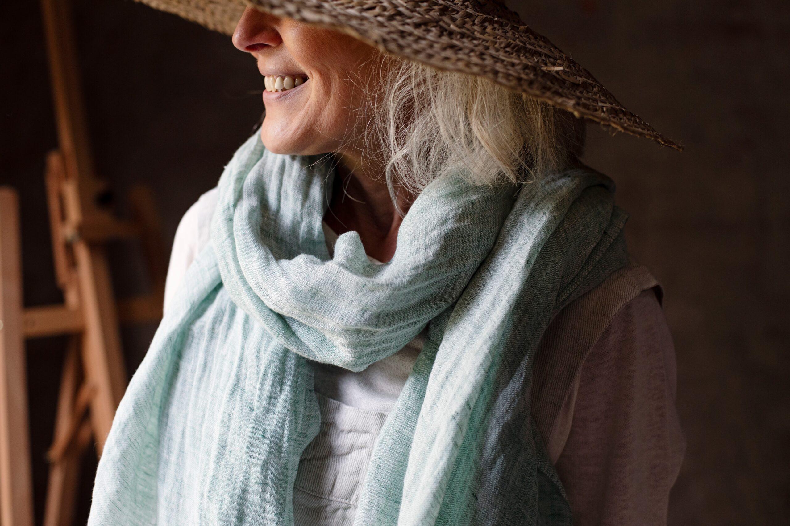 lapuan kankurit linen scarf lempi Finland
