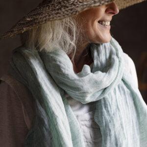 lapuan kankurit lempi linen scarf Finland