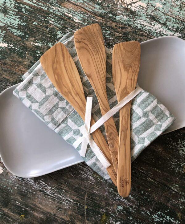 Berard olive wood utensils salad servers