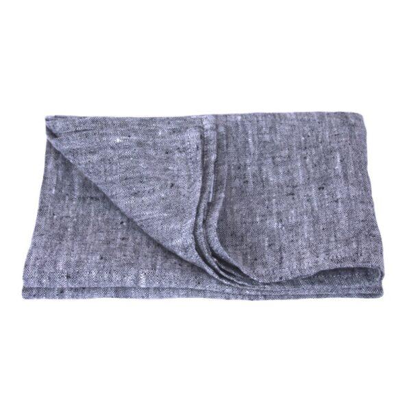 Linen Casa black linen dish towel
