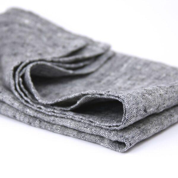 Linen Case black linen kitchen towel