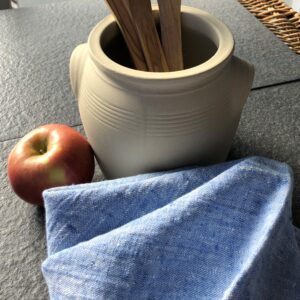 linen dish towel blue metaphore european home