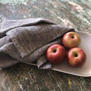 Linen Casa black heather linen dish towels