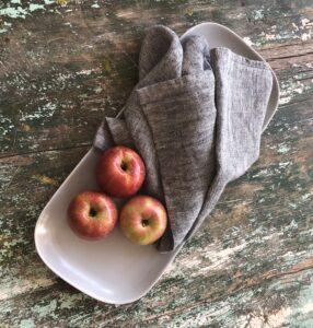 linen dish towels black heather Linen Casa