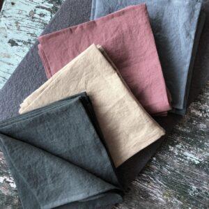 Libeco Skye linen napkins Belgian linen