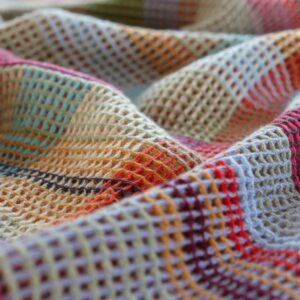 Wallace Sewell merino wool throw honeycomb dorothy