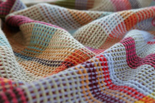 Wallace Sewell merino wool throw honeycomb dorothy