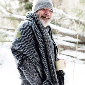 Lapuan Kankurit wool shawl Iida for men Finland
