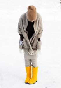 Lapuan Kankurit wool pocket shawl Finland