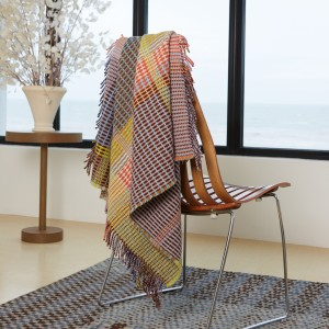 Wallace Sewell basketweave throws blankets