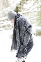Lapuan Kankurit men's wool shawl Finland